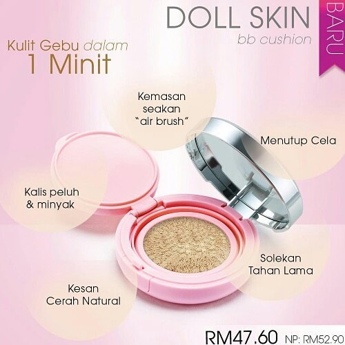 Hi Lovelies 😘  Doll Skin Bb Cushion Yang Diformulasikan
