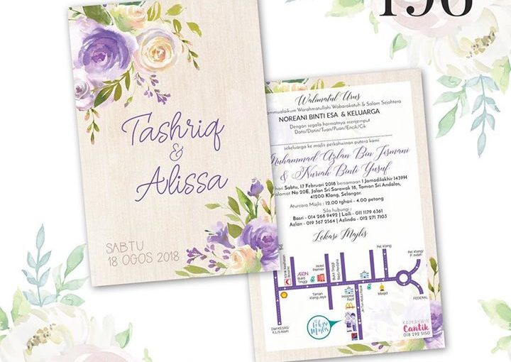 More Design Wedding Cards From Kad Kahwin Cantik