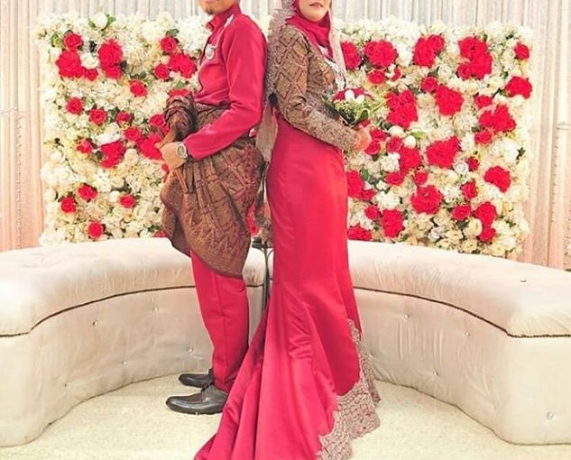 Songket Dress Red Chilli-chocgold  Open For Rental Starting