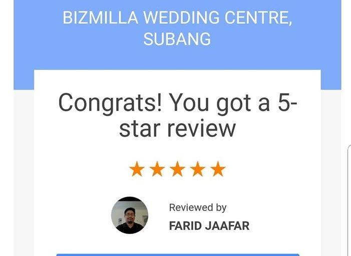 Terima Kasih Mr Farid For The 5 Star