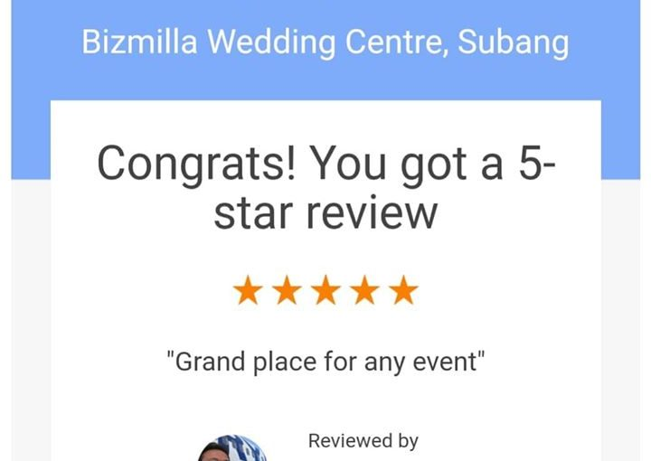 """""""grand Place For Any Event. """" Terima Kasih Mr Ismail For"""