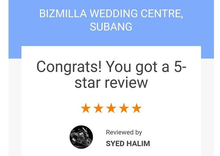 Terima Kasih Mr Syed For The 5 Star